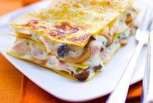 lasagne poulet et champignons