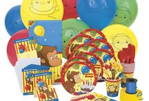 Birthday Party Supplies / Everything you need for planning your Curious George-themed birthday party!