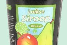 Sirop de Liège et autre sirop / Le sirop est conçu à partir de poires, pommes dattes et ou abricots réduit lors de la cuission jusqu'a obtention d'une pâte brune très foncée. On l'utilise sur la tartine ou dans des préparations comme les boulettes liègeoises ou pour accompagné lebon fromage Belge www.chockies.net