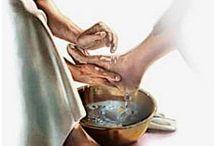 Jesus faceless Washington feet tattoo