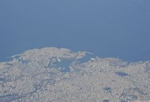 Flying with the wings of AEGEAN over Attica / Flying with the wings of AEGEAN over Attica from Mesogeia and Hymettus to Athens and Piraeus