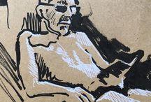 my work Midday leather skin tan #summer #ink #drawing #sketch #sketchbook