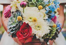 retro wedding bouquets