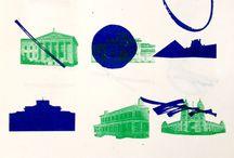 Architecture et graphisme / Planche tendance de mon projet de diplôme à découvrir ici : http://www.luciecasalanguida.com/portfolio/architecture-et-graphisme-2/