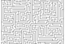 Mazes & Labyrinths / mazes to work through