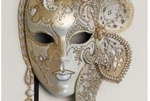 Venetian mask / mystery, costume party, beautiful