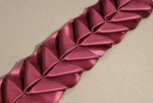 bordado con cinta de lazo