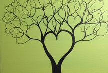 arbre noire en coeur