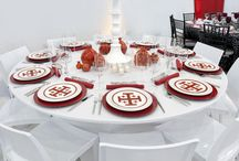 Tablescapes by Carmina Roth Interiors / Elegant tablescapes for entertaining and events