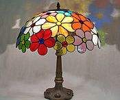 Table lamps from stain glass