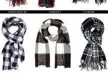 Plaid tartan scarves
