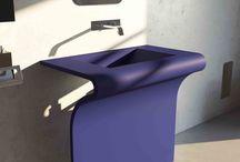 Bathroom Ideas / Stainless steel bathroom console