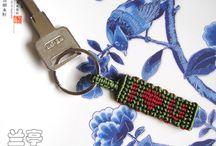 micro macrame key chains / by handmadefuzzy