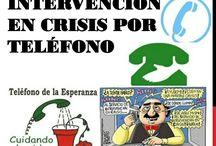 Intervención de crisis, por teléfono.