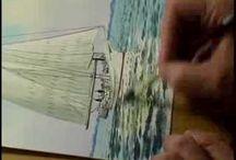 Aquarel Schilder Keith Whitelock