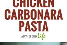 Chiken Carbonara Pasta