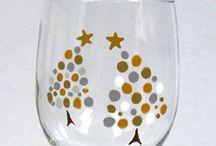 Paint wine glasses