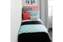 Dorm Room Wall Monograms / Add a wall monogram for style, color, and personalization! to any room Love our metallic monograms...Easy to apply and remove! Perfect for blah dorm room walls / by Decor 2 Ur Door