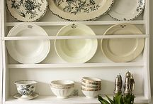 Dining room China shelves
