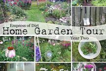 GARDEN Home garden tours & ideas ❤ / Home garden tours and ideas including creative garden art, sitting areas, garden beds, container gardens, raised beds, landscaping and design, and veggie gardens. / by Melissa @EmpressOfDirt.net  ❤
