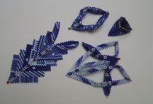 contemporary geometric beadwork