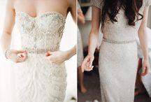 Pásky na svatební šaty