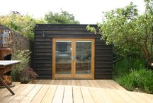 Garden sheds / outbuildings / A collection of modern garden sheds and outbuildings. A brilliant and easy way to create additional floor space that is separate and private from a residential property