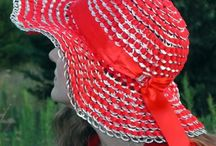 Pop tab red sunhat