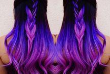 Purple hair style
