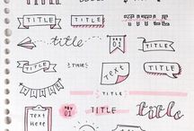 hand lettering etc