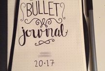 the first page of bullet journal