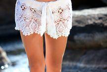 hæklede shorts