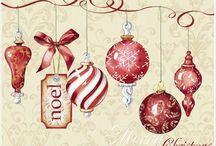 DECOUPAGE-tél,karácsony