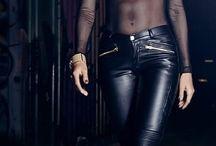 Leather trouser & leggings