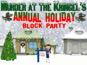 Murder at the Kringel's Annual Holiday Block Party - Murder Mystery Party / A fun holiday murder mystery for any fantastic holiday event including 8-18+ guests! There are two expandable characters that can be expanded to as many optional characters as you need!