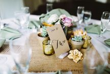 Table number ideas / Wedding table ideas for every wedding style.
