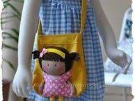 borse con bambole