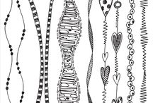 Zentangle Lines, Ribbons, and Borders / by Cindy Guard