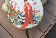 Chinese Hand Fans for Sale at Explosion Luck / Chinese hand fans make great gifts as fashion accessories as well as Asian home decor accessories. To learn more visit online gift store for unique gifts Explosion Luck https://www.explosionluck.com/collections/chinese-hand-fans-and-decorations