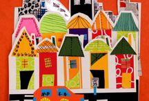Város, házak