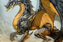 gold and silver dragon