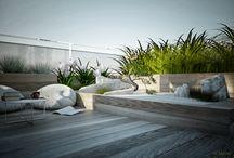 Rooftop garden by W Moim Ogrodzie / rooftop terrace, rooftop garden, terrace, modern terrace, modern garden design, w moim ogrodzie  designed by Anna Skorupska Warsaw, London, Galway, Ireland