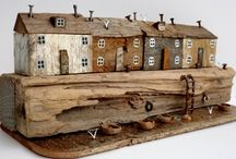 Kirsty Elson - Driftwood Sculptures / Charming driftwood sculptures from Cornwall, UK, made by Kirsty Elson. Combining beach finds with premium paints Kirsty creates exquisite scenes with a strong link to the Cornish coastline near her home.