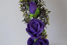 flores em eva / Modelo flores em eva