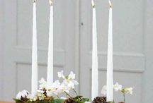 Adventní věnce a svícny