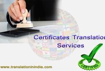 Certified Translation Servces /  Certified Translation is a one of the important process in language translation service, it assured you that the translated language is accurate as per provided source language data.Translation In India provides a better Language Translation Service with 100% manual translation process.
