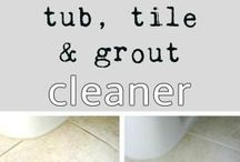cleaning household