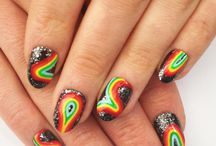Cosmic Nail Art / funky designs for artificial nails / by Zoe Kaiser