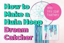 Hula hoop dream catchers