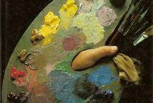 libro de pintura del óleo